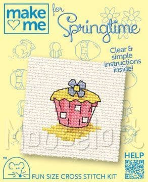 Mouseloft Cupcake Make Me For Springtime cross stitch kit